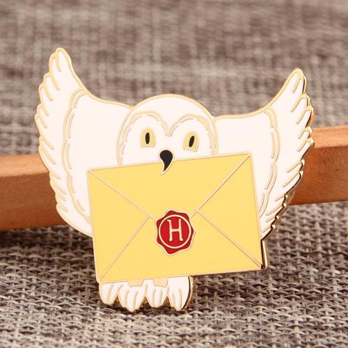 Custom Pigeon Envelope Enamel Pins