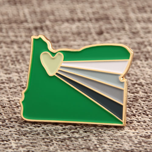 Custom Cut Heart Pins