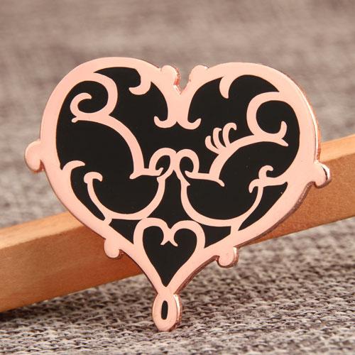Custom Heart Enamel Pins