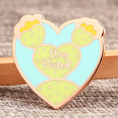 Cactus Heart Enamel Pin