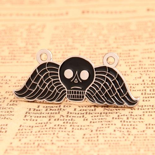 Custom Skull Wing Pins