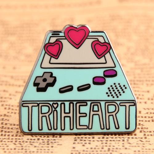 Custom Triheart Enamel Pins