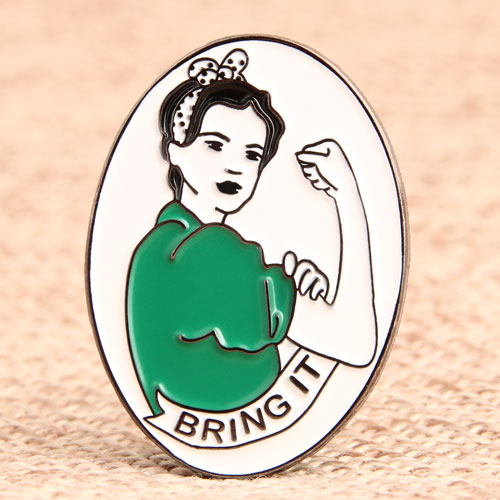 Custom Woman Lapel Pins