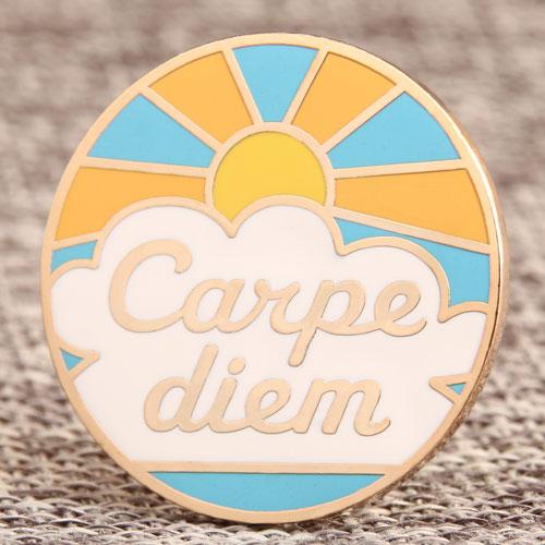 Custom Carpe Diem Enamel Pins
