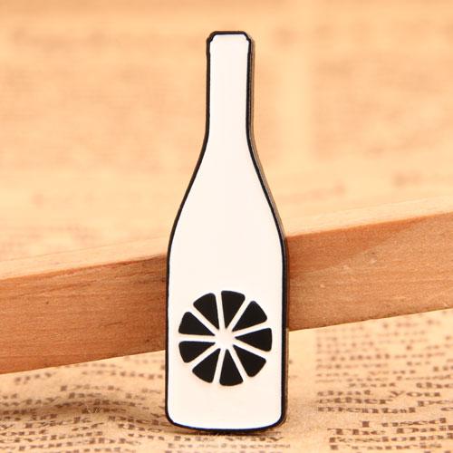 Custom Orange Bottle Pins