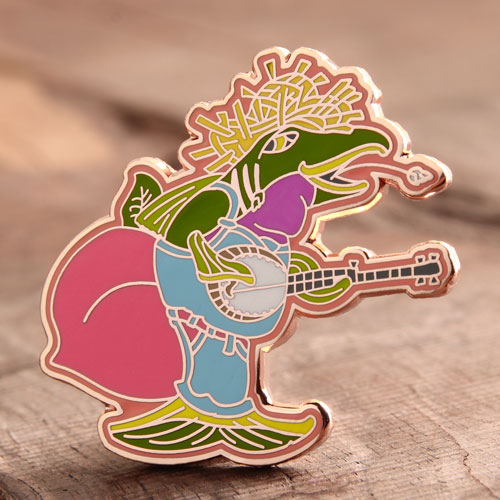 Custom Fish Singer Pins