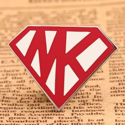 Custom Superman Logo Pins
