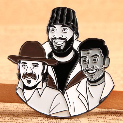 Custom Three Man Pins