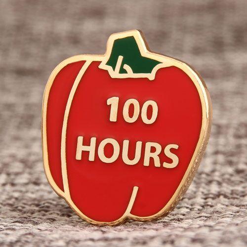 Custom 100 Hours Pins