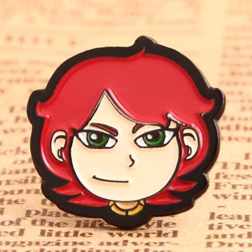 Young Girl Custom Pins