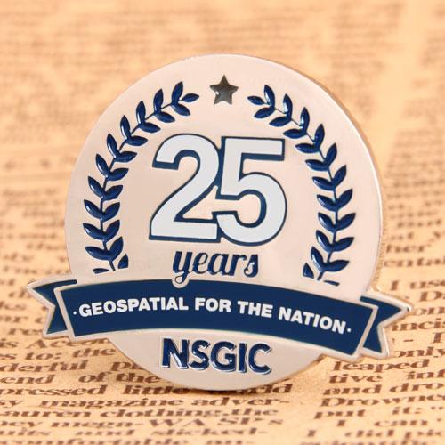 Custom NSGIC 25 Years Pins