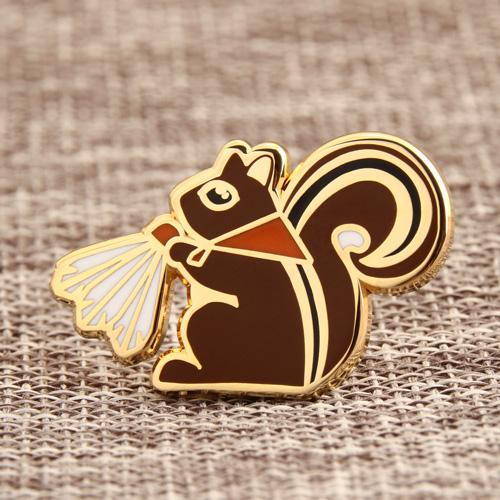 Custom Squirrel Enamel Pins