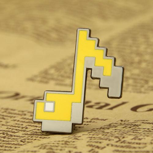 Custom Note Lapel Pins