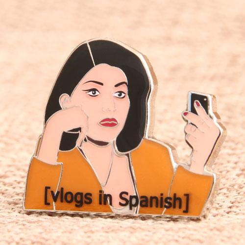 Spanish Woman Enamel Pins