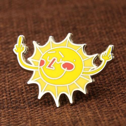 Custom Sunshine Enamel Pins