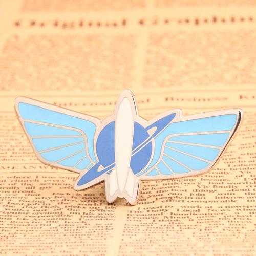 Custom Blue Airship Pins