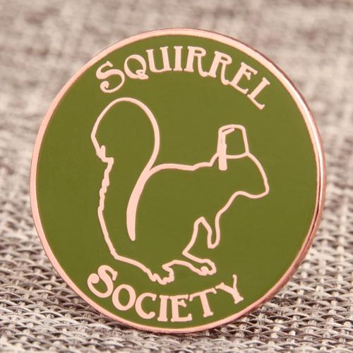 Custom Squirrel Society Pins