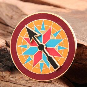 Compass Lapel Pins