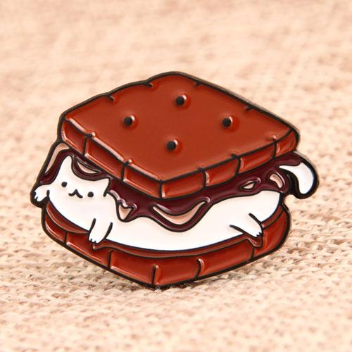 Sandwich Cat Lapel Pins