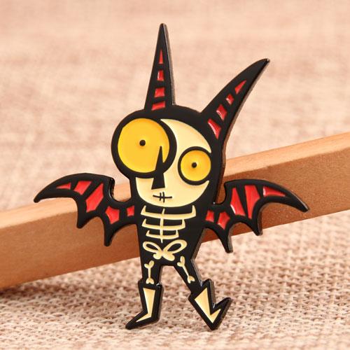 Bat Zombie Custom Pins