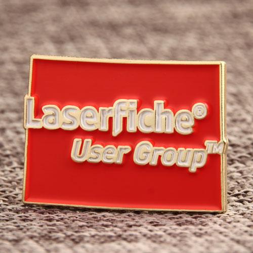 The Laserfiche Enamel Pins
