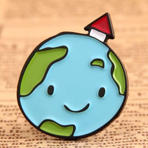 Earth Cute Enamel Pin