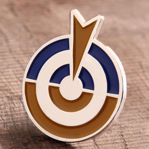 Round Target Enamel Pin