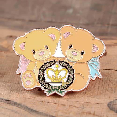 Bear Doll Custom Enamel Pins
