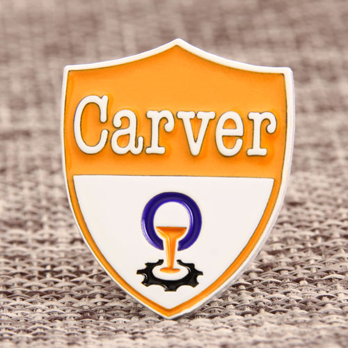 Carver Enamel Lapel Pins