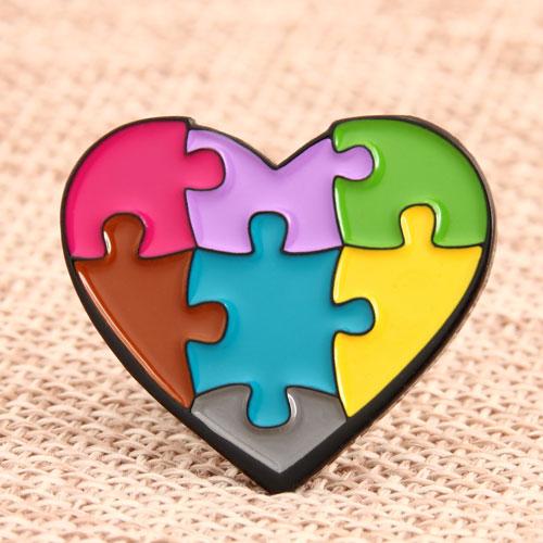 Heart Shape Enamel Lapel Pins
