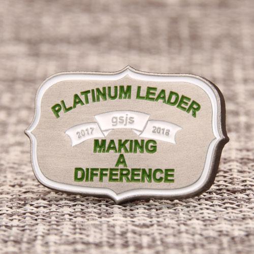 Platinum Leader Enamel Pin