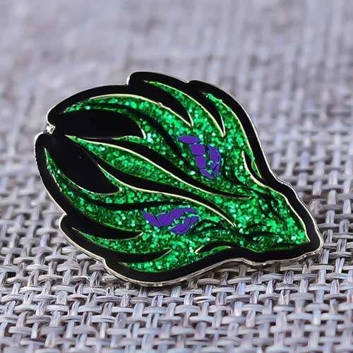 Green Fire Custom Enamel Pins