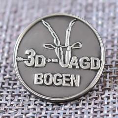 3D JAGD BOGEN Enamel Pins