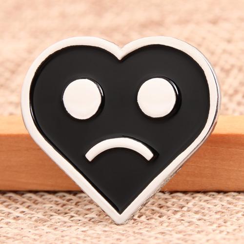 Sad Emoji Custom Lapel Pins