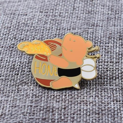 Bear & Honey Lapel Pins
