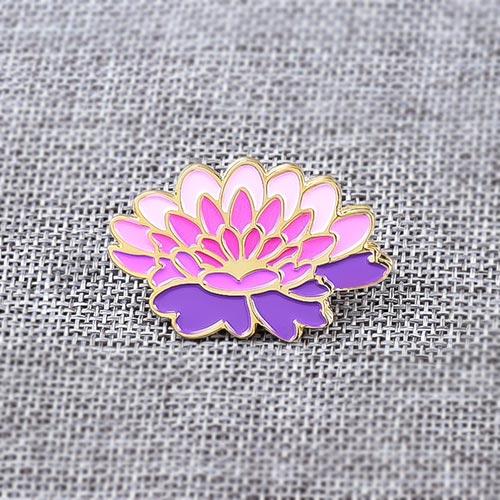 Purple Lotus Custom Lapel Pins