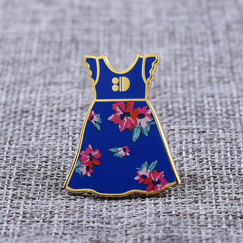 Blue Dress Custom Enamel Pins