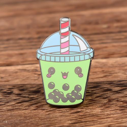 Bubble Milk Tea Hard Enamel Pins
