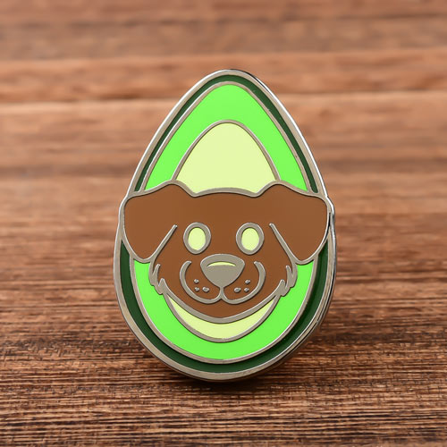 Avocado and Dog Custom Pins