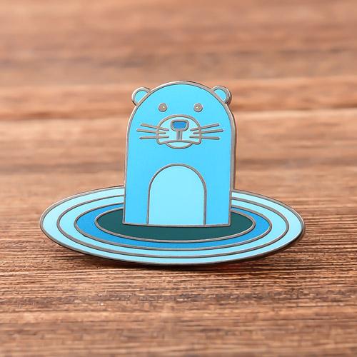Blue Otter Custom Enamel Pins