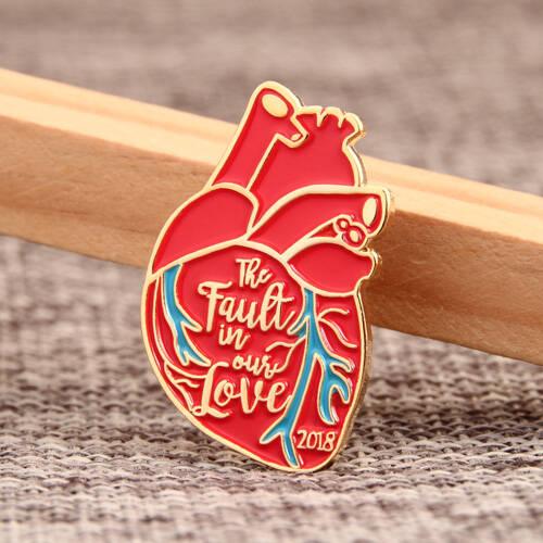 Heart Shape Custom Enamel Pins