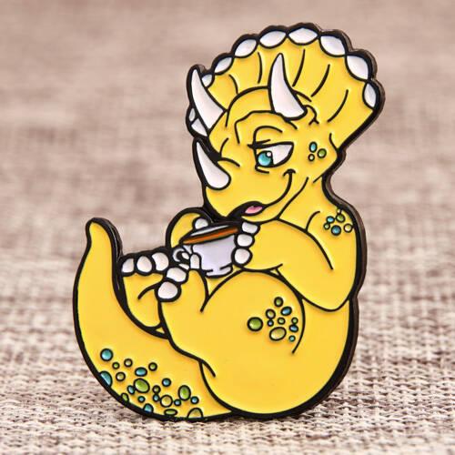 Cartoon Triceratops Custom Lapel Pins