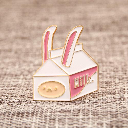 Rabbit Milk Carton Pins