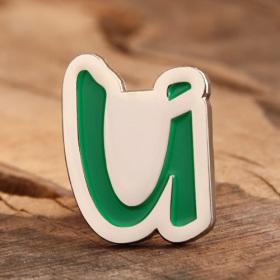 Letter U Enamel Pins