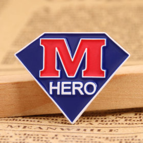 M Hero Enamel Pins