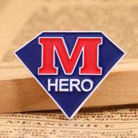 M Hero Enamel Pins