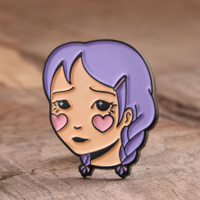 Shy Girl Enamel Pins