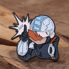 Cartoon Boy Custom Enamel Pins