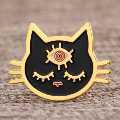 Black Cat Custom Enamel Pins
