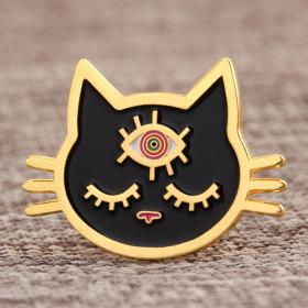 Black Cat Custom Enamel Pins